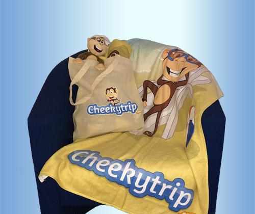 Branded Beach Towels, Beach Bag & Cheeky Monkey winning bidder