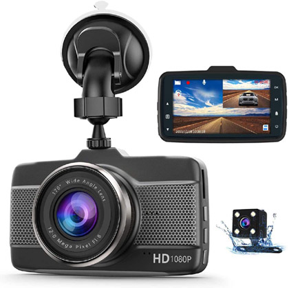 Front & Rear Dash Cam valued at £39.99