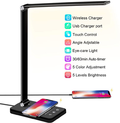 LED Desklamp with Charger valued at £35.99 winning bidder