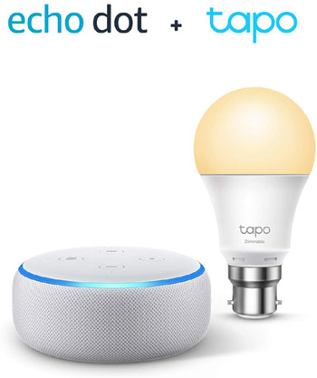 Echo Dot with Smart Bulb valued at £52.98 winning bidder