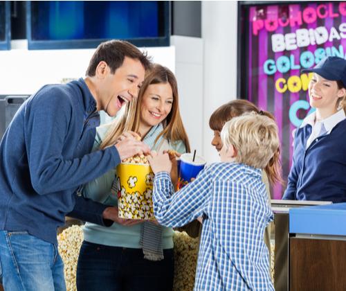 Family Cinema Tickets & Snacks valued at £49.00 winning bidder