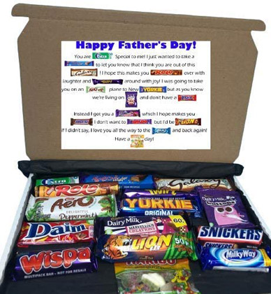 Happy Fathers Day Chocolate Gift Box valued at £12.99 winning bidder