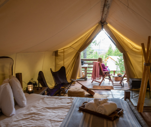 Two Night Glamping for Two valued at £99.00 winning bidder