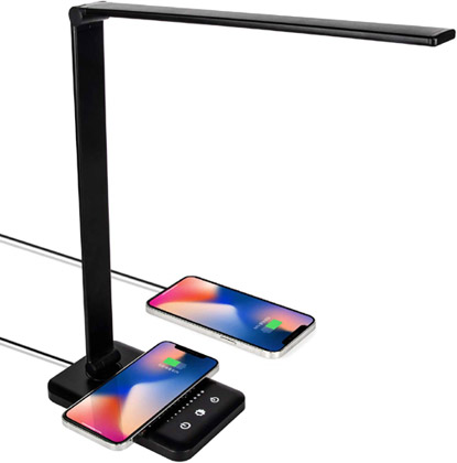 Desk Lamp with Wireless Charging valued at £30.99 winning bidder
