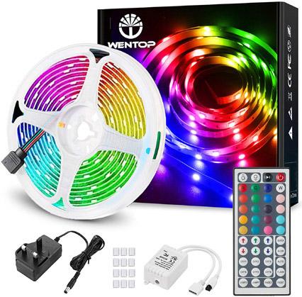 LED Lights with Remote valued at £29.99 winning bidder