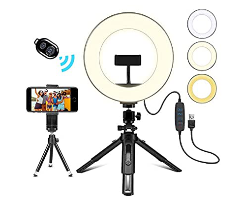 8 inch LED Ring Light and Tripod Stand
