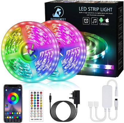 12M LED Lights with Remote valued at £24.99 winning bidder