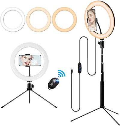 Makeup Ring Light & Tripod valued at £42.99 winning bidder