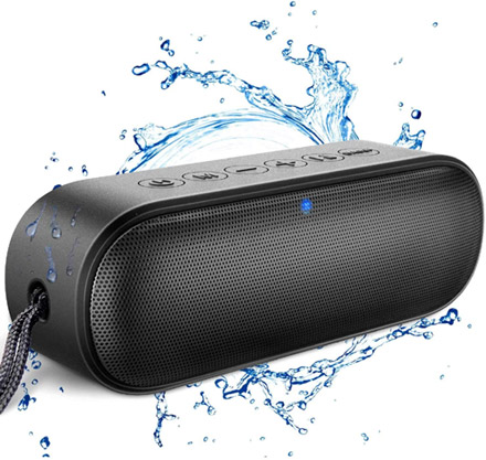 Waterproof Portable Speaker valued at £37.49 winning bidder