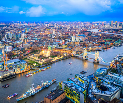 View from The Shard for Two valued at £64.00 winning bidder